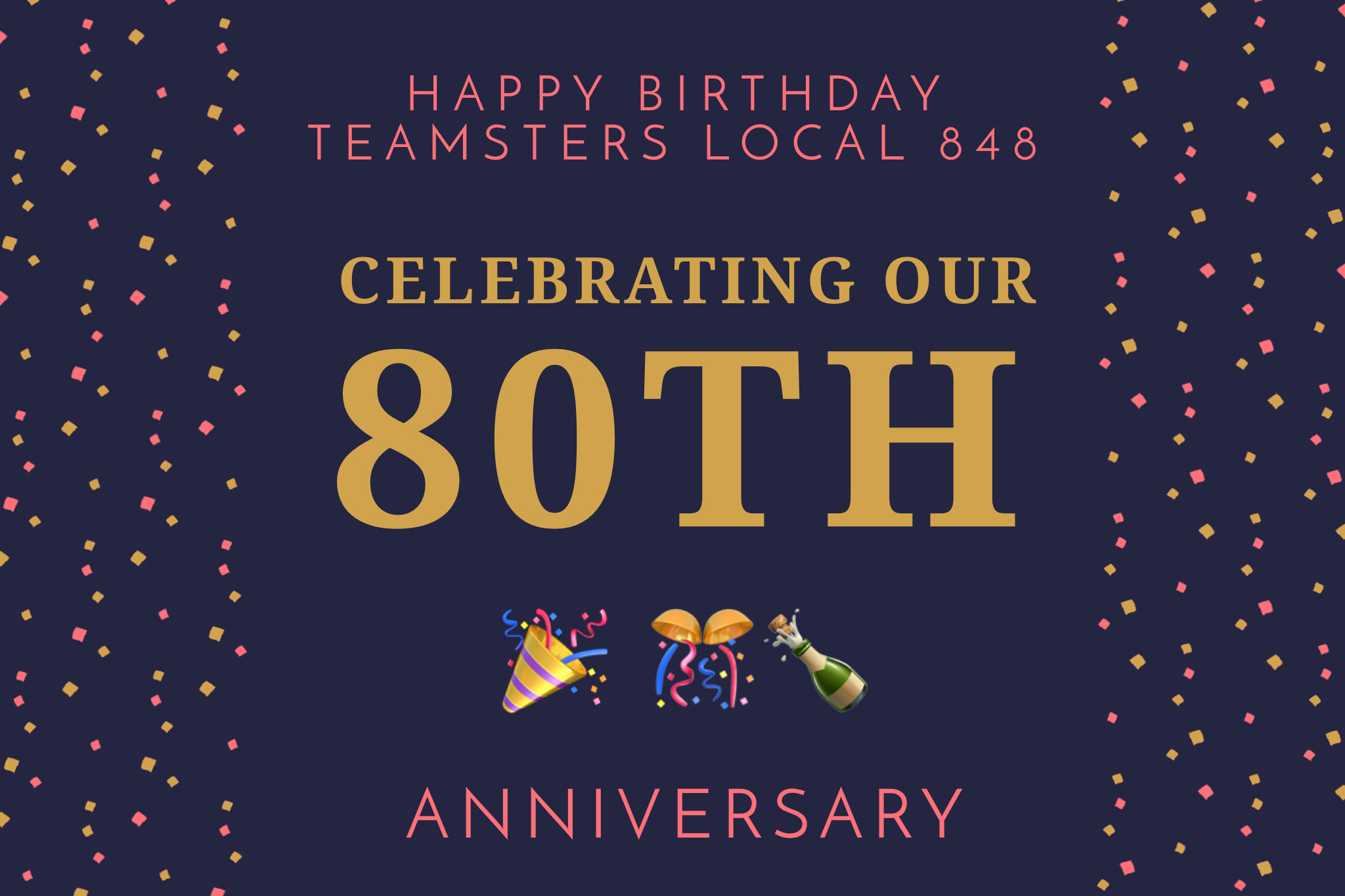 Happy Birthday Teamsters Local 848