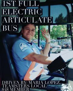 1st Full Electric Bus Driven by Teamster 848 Member!