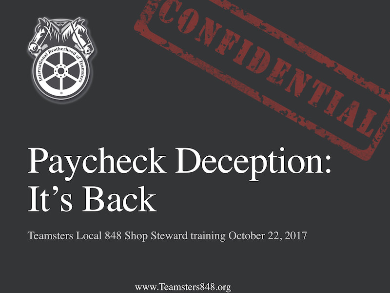 Paycheck Deception: 