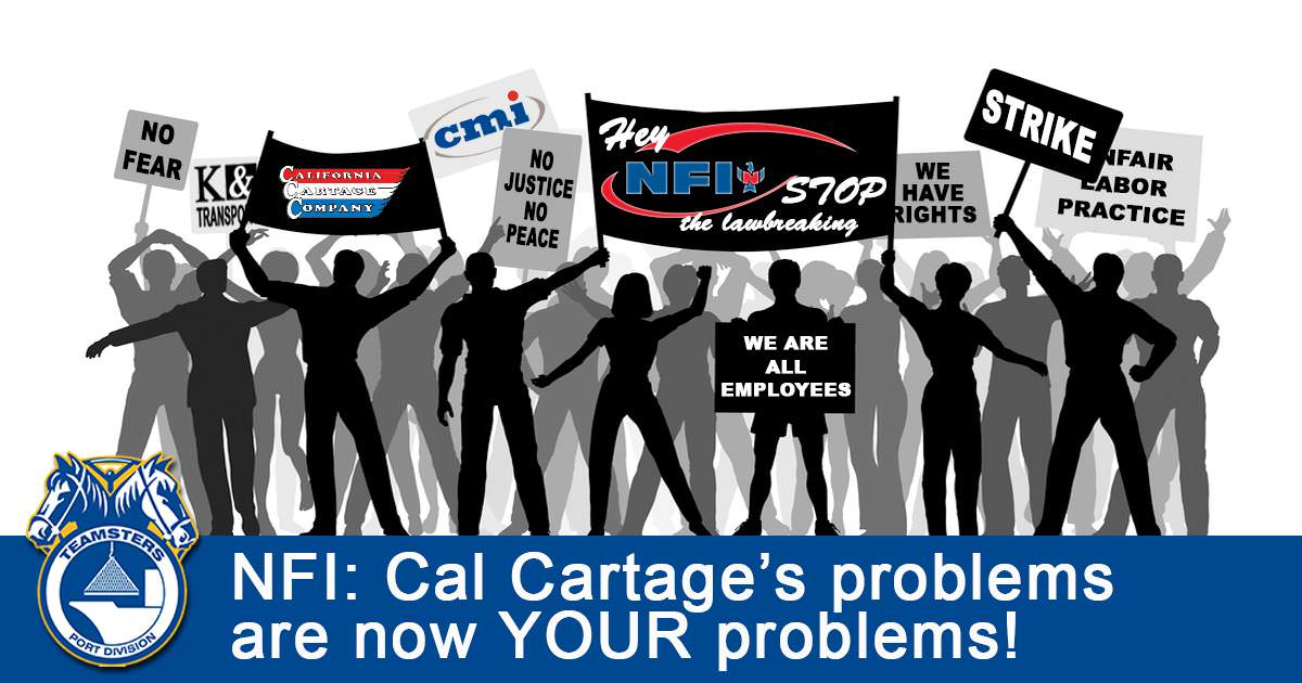 NFI: Cal Cartage's Problem's Are Now Your Problems!