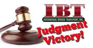 JUDGMENT VICTORY