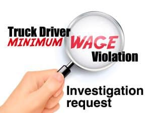 Truck Drvier Investigation Request