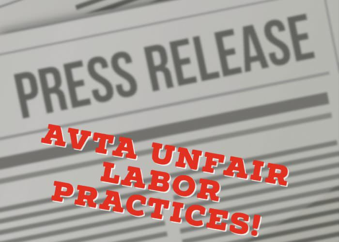 Unfair Labor Practices by AVTA
